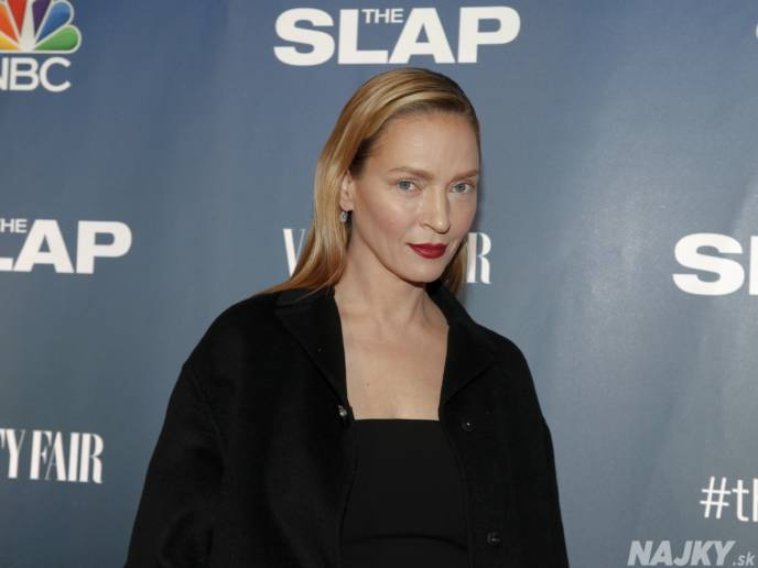 """Uma Thurman attends NBC's """"The Slap"""" miniseries premiere party at the New Museum on Monday, Feb. 9, 2015, in New York. (Photo by Andy Kropa/Invision/AP)"""