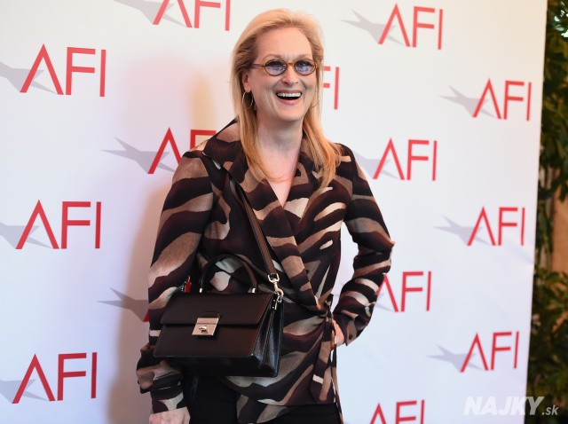 Meryl Streep arrives at the AFI Awards at The Four Seasons Hotel on Friday, Jan. 9, 2015 in Los Angeles. (Photo by Jordan Strauss/Invision/AP)