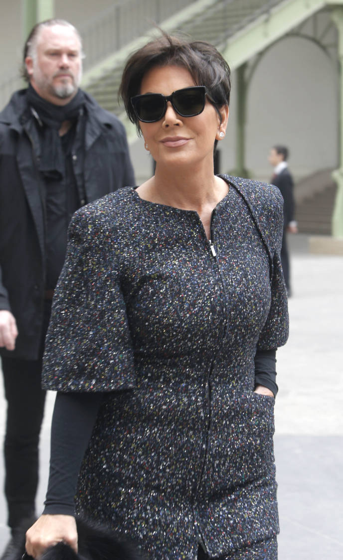 Kris Jenner arrives to attend Chanel's ready to wear fall-winter 2015-2016 fashion collection during Paris fashion week, Tuesday, March 10, 2015, in Paris. (AP Photo/Thibault Camus)