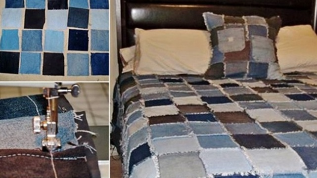 How-to-DIY-Denim-Rag-Quilt-From-Old-Jeans