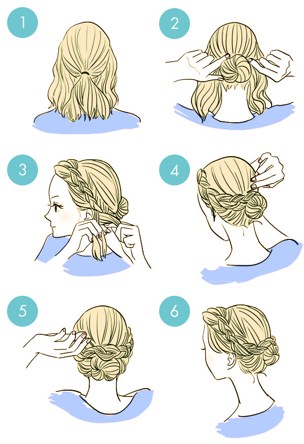 http://www.fabartdiy.com/20-simple-diy-tutorials-on-how-to-style-your-hair-in-3-minutes/2/