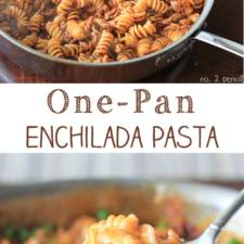 One-Pan-Enchilada-Pasta-Collage