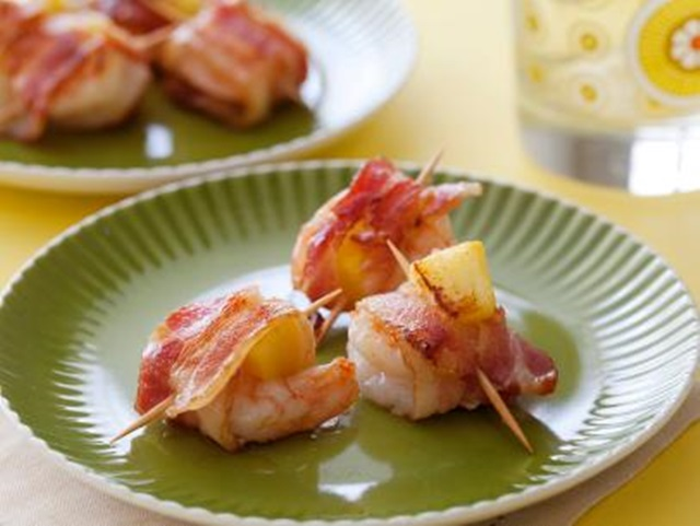 http://www.foodnetwork.com/recipes/rachael-ray/bacon-wrapped-pineapple-shrimp-recipe.html