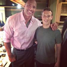 mark zuckerberg dwayne johnson