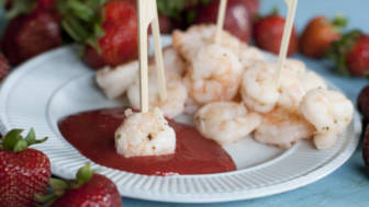Food Strawberry Shrimp Cocktail