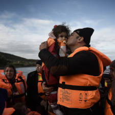 TOPSHOT GREECE EUROPE MIGRANTS