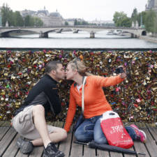 Ambiance At Pont Arts Before Paris City Hall Permanently Removes All The 'Love Padlocks' From The Bridge In Paris