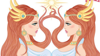 Astrological sign of Gemini as a beautiful girl