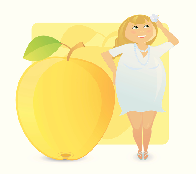 Women figure types: juicy apple