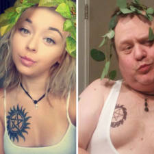 Dad recreates daughter selfies cassie martin chris martin 11.jpg