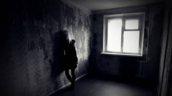 Girl in empty room