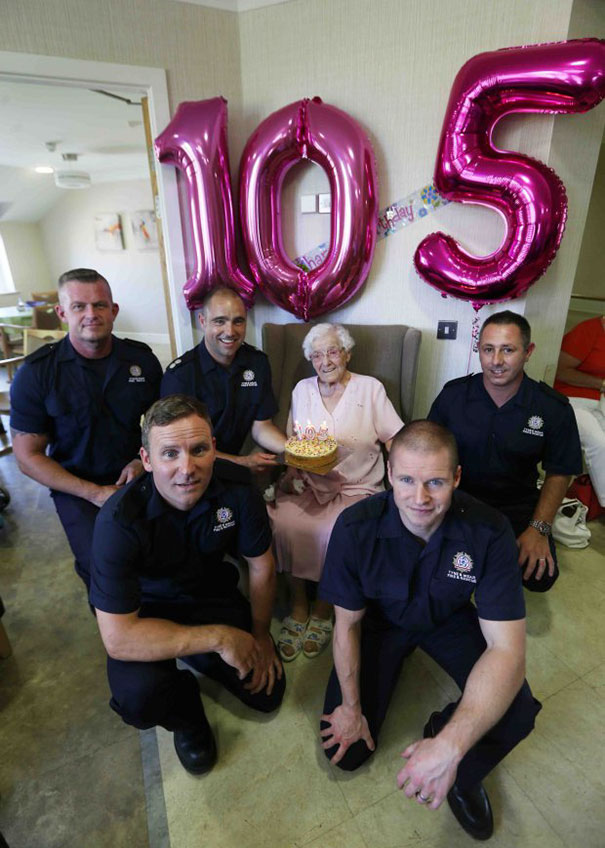 105 year old grandmother birthday wish fireman ivena smailes 1.jpg