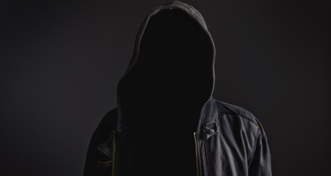 Faceless unrecognizable man without identity
