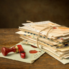 Wax seal and old letters