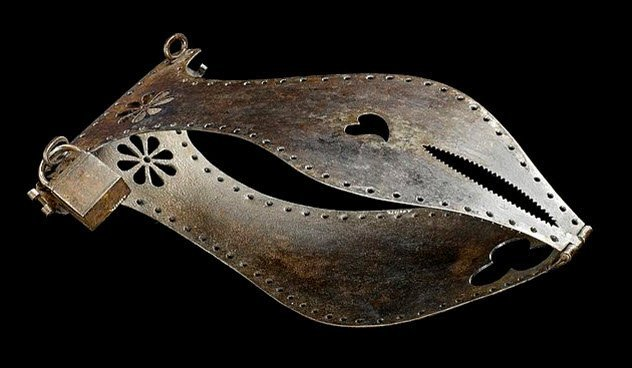 https://commons.wikimedia.org/wiki/File:Iron_chastity_belt,_Europe_Wellcome_L0058586.jpg