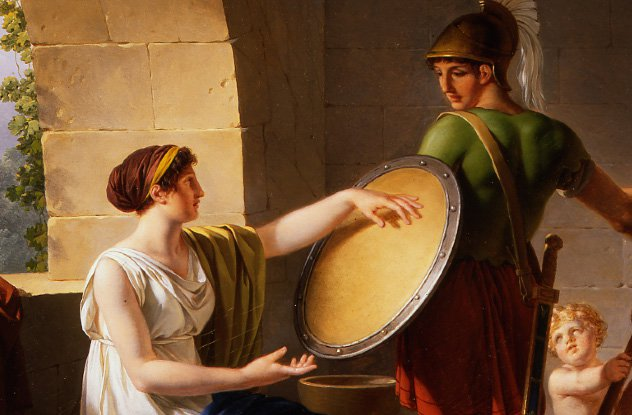 https://en.wikipedia.org/wiki/Women_in_ancient_Sparta#/media/File:Jean-Jacques-Fran%C3%A7ois_Le_Barbier_-_A_Spartan_Woman_Giving_a_Shield_to_Her_Son.jpg