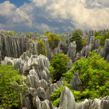 Stone forest Shi Lin. National park in Yunnan province, China, kamenný les