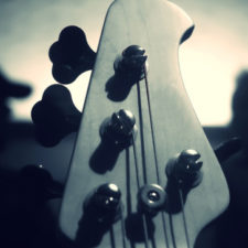 Bass guitar moody noir