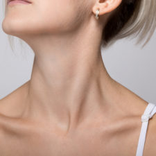 Woman's chin and neck