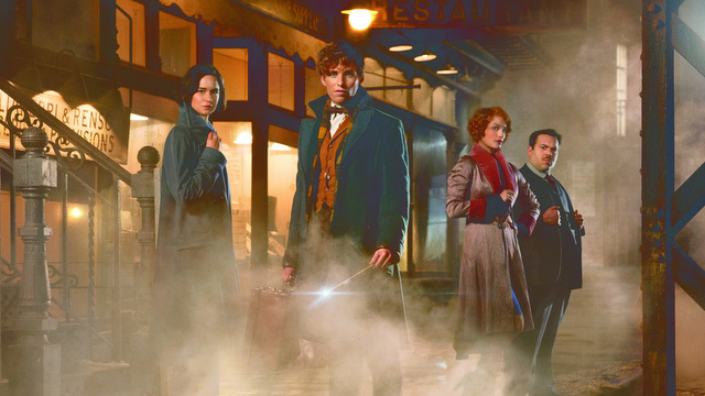 "This image released by Warner Bros. Pictures shows, from left, Katherine Waterston, Eddie Redmayne, Alison Sudol and Dan Folger in a scene from ""Fantastic Beasts and Where to Find Them,"" scheduled for release on Nov. 18, 2016. Warner Bros. announced Wednesday, Aug. 3, that the upcoming film will get a sequel, planned to hit theaters in November 2018. J.K. Rowling will also write the sequel's screenplay. (Jaap Buitendijk/Warner Bros. Pictures via AP)"