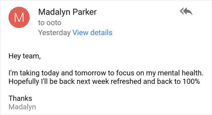 Woman email mental health day ceo response madalyn parker 15.jpg