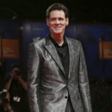 Actor Jim Carrey poses for photographers at the premiere of the film 'Jim and Andy: The Great Beyond' at the 74th edition of the Venice Film Festival in Venice, Italy, Tuesday, Sept. 5, 2017. (Photo by Joel Ryan/Invision/AP)