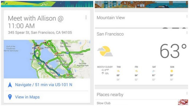 google now, appka