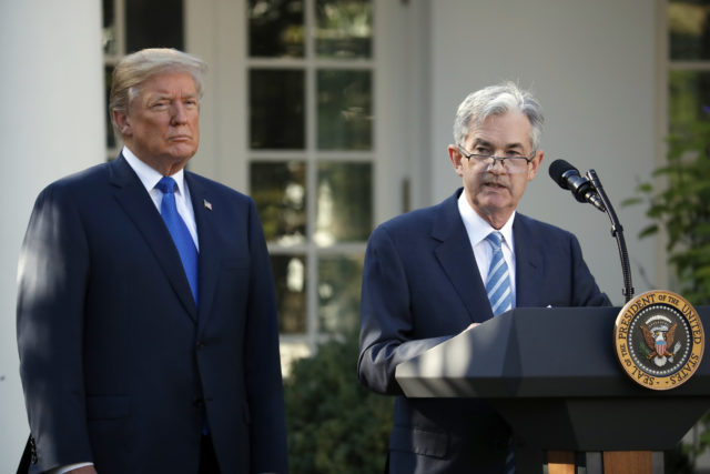 Jerome Powell, Donald Trump