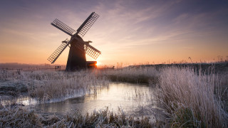 Herringfleet Windmill at Sunrise
