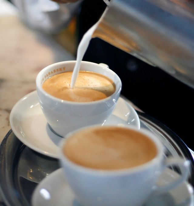Viennese coffee is prepared at the Austrian-style Cafe Sabarsky in New York, Wednesday, March 4, 2009. If you're hankering for a tour of Europe this year but can't afford the time or plane fare, here are some of the ways in which New York City can be oh so continental. (AP Photo/Seth Wenig)