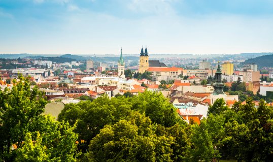 View of the City of Nitra, Slovakia as Seen from Nitra Castle