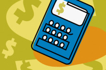 calculator, close-up --- Image by © Images.com/Corbis