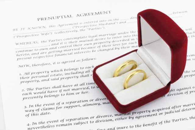 Prenuptial ( premarital ) agreement