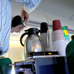 Coffee in the airplane