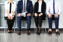 Business people waiting for job interview.