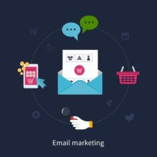 Set of email marketing