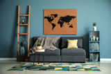 Interior,Of,Modern,Room,With,Picture,Of,World,Map,On