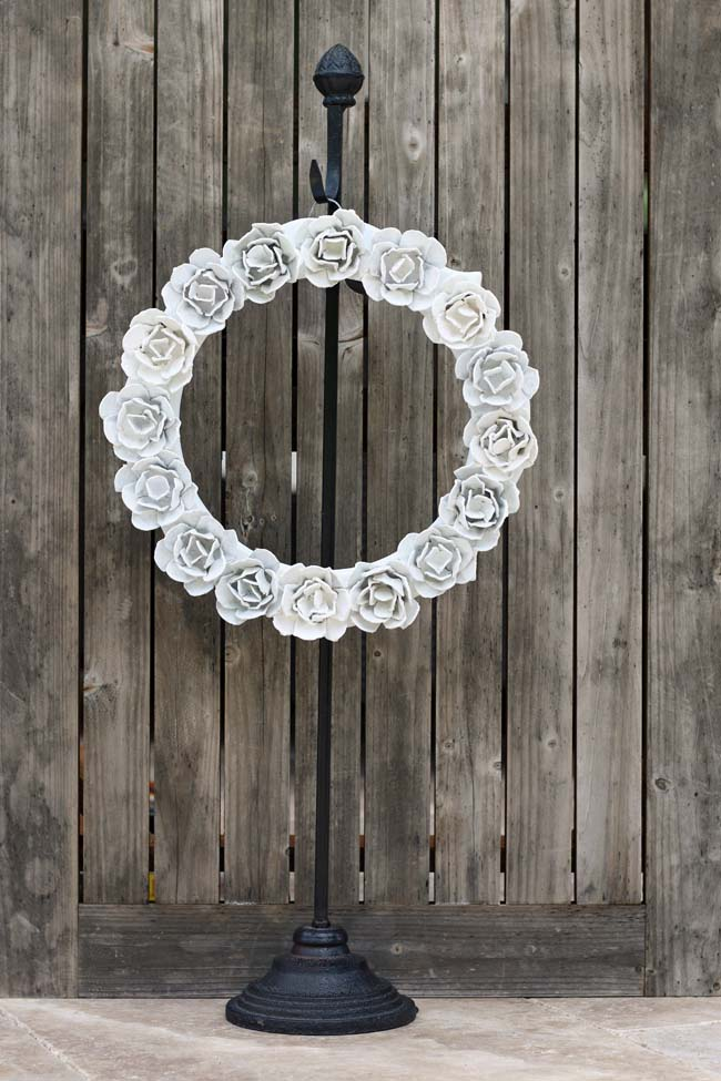 egg carton rose wreath 1