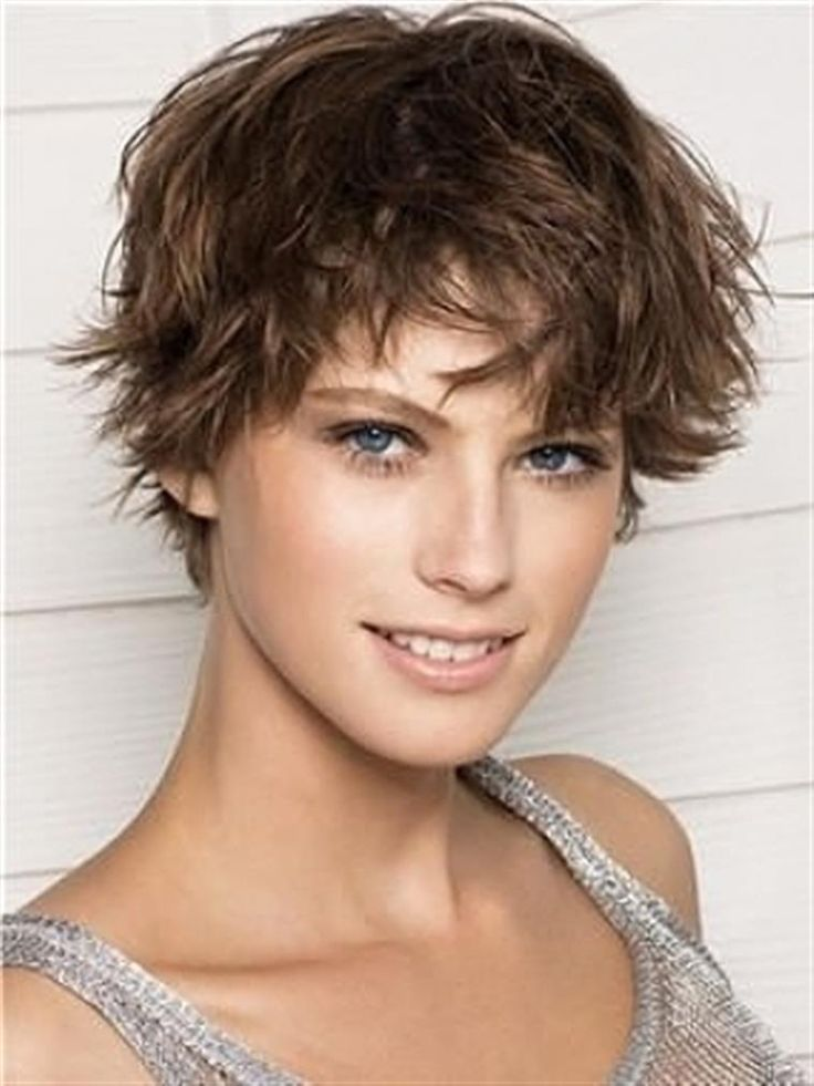 Brown Short Wavy Hairstyle2
