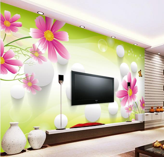 3D stereoscopic TV wall murals living room sofa background font b wallpaper b font font b