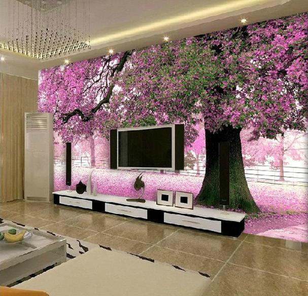 Free Shiping 3D Mural Wallpaper Romantic Large Custom Modern Background Wall paper Roll For Living Room