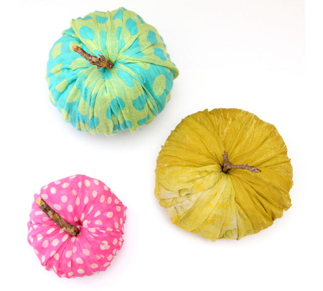 instant fabric pumpkin decoration apieceofrainbowblog 19