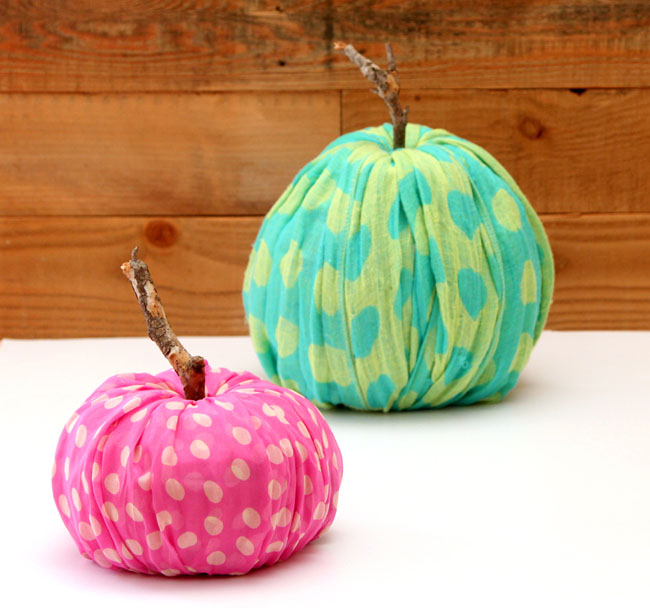 instant fabric pumpkin decoration apieceofrainbowblog 20