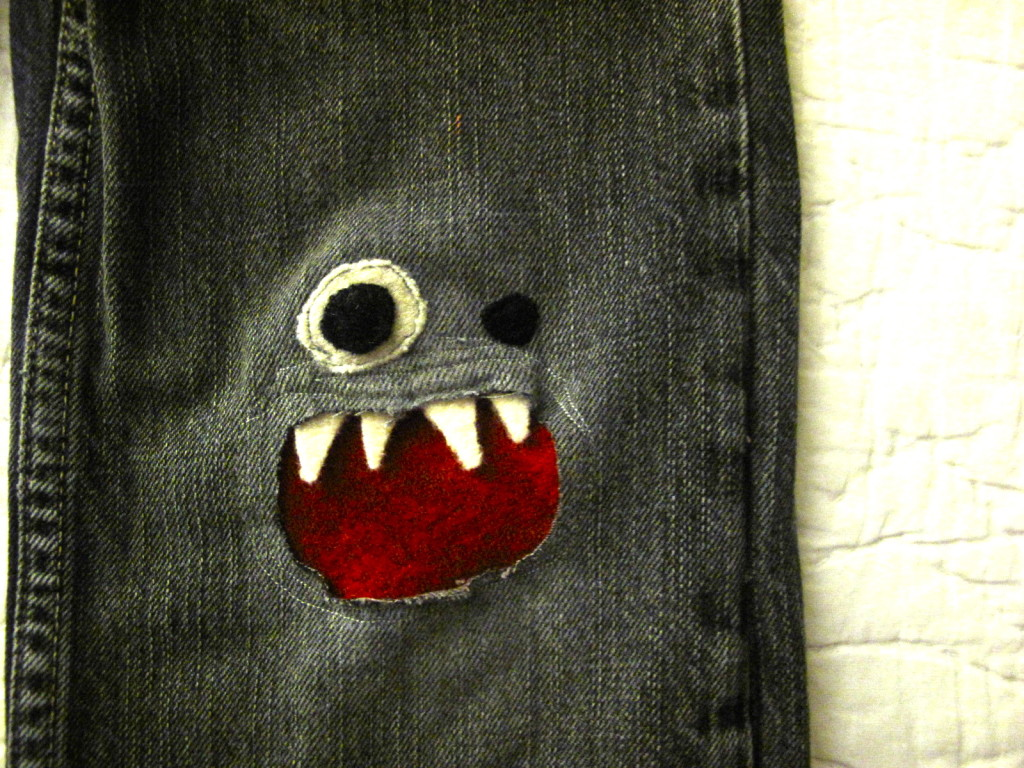 How to Mend Jean Holes in Cutest Way4