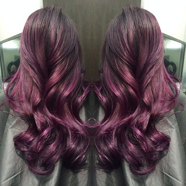 Amazing red purple ombre balayage hairstyle for dark hair girls.jpg