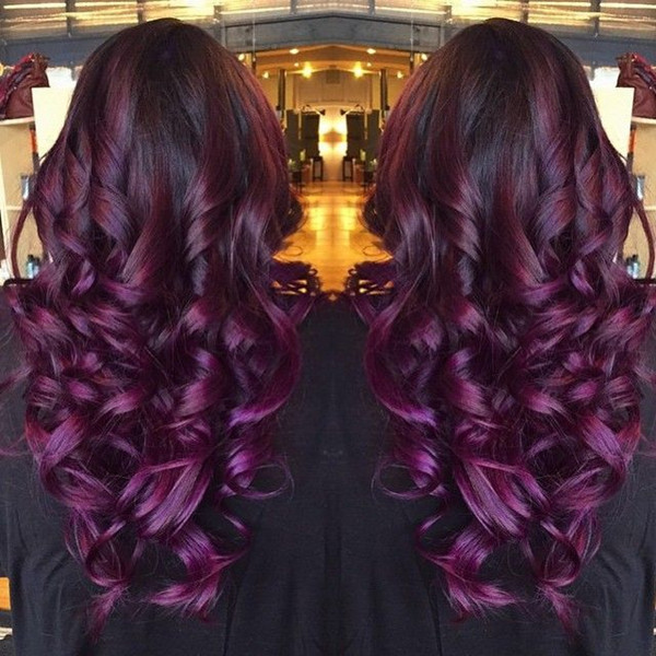 Black purple ombre hair color wonderful balayage hairstylelove it so much.jpg