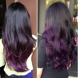 Dark purple ombre hair color choice for dark hair girls to dye hair purple.jpg