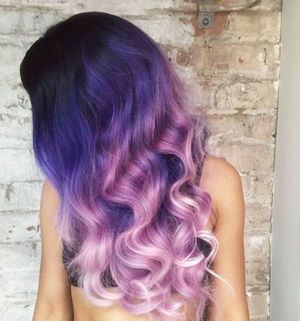 Purple ombre hair color for dark hair ombre hair color with blue and pink amazing effects.jpg