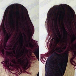 Red purple ombre hair color idea for dark hair. new choice of dye purple hair.jpg