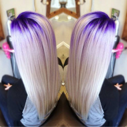 Wonderful purple hair color for blonde hairmake you surprisebeautiful purple crown lights by stylist and educator stefani picchi.jpg